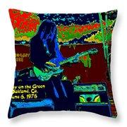 Mrdog # 71 Psychedelically Enhanced W/text Throw Pillow