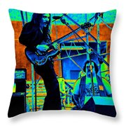 Mrdog #19 In Cosmicolors Throw Pillow