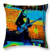 Mrdog #24 In Cosmicolors Throw Pillow