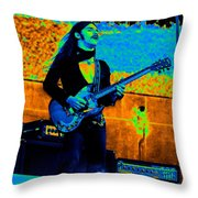 Mrdog #24 In Cosmicolors Crop 2 With Text Throw Pillow