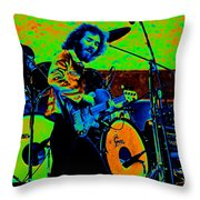 Mrdog #41 In Cosmicolors Throw Pillow