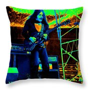 Mrdog #45 In Cosmicolors Throw Pillow