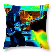 Mrdog #6 In Cosmicolors Throw Pillow