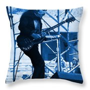 Mrdog #63 Enhanced In Blue Throw Pillow
