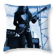 Mrdog #68 Enhanced In Blue Throw Pillow