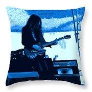 Mrdog #71 Enhanced In Blue Throw Pillow
