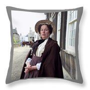 Mrs Dollop  Throw Pillow