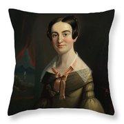 Mrs. Eunice Hall Of Portland, Maine Throw Pillow