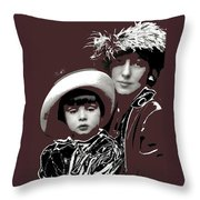 Mrs. Evelyn Nesbit Thaw And Son Arnold Genthe Photo New York 1913-2014 Throw Pillow