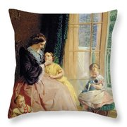 Mrs Hicks Mary Rosa And Elgar Throw Pillow