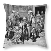 Mrs. Murray And Lord Howe Throw Pillow