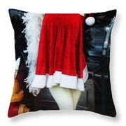 Mrs Santa Manequin Throw Pillow