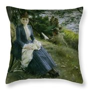 Mrs Symons In Scotland Throw Pillow