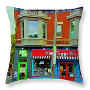 Mrs Tiggy Winkle's Toy Shop And Lost Marbles Richmond Rd The Glebe Paintings Ottawa Scenes C Spandau Throw Pillow