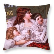 Mrs Winslow's Soothing Syrup Throw Pillow