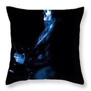 Mrush #13 In Blue Throw Pillow