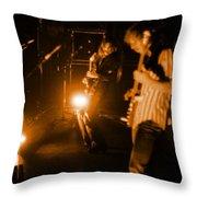 Mrush #35 In Amber Throw Pillow