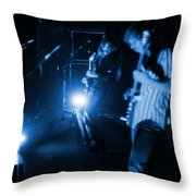 Mrush #35 In Blue Throw Pillow