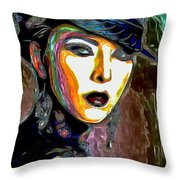 Ms Boss Lady Throw Pillow