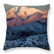Mt Adams Sunset Throw Pillow
