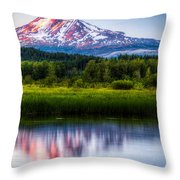 Mt Adams Sunset Throw Pillow