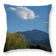 Mt Ashland In Late Summer Throw Pillow