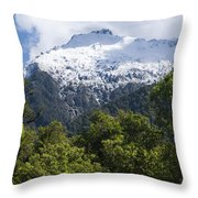Mt. Aspiring National Park Peaks Throw Pillow