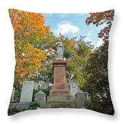 Mt Auburn Cemetery 1 Throw Pillow