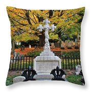 Mt Auburn Cemetery 11 Throw Pillow