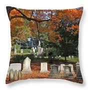 Mt Auburn Cemetery 12 Throw Pillow