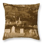 Mt Auburn Cemetery 13 Sepia Throw Pillow