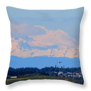 Mt. Baker Of Pacific Northwest Throw Pillow
