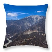 Mt. Baldy Throw Pillow