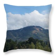 Mt Baldy Panorama From Grants Pass Throw Pillow