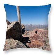 Mt. Bierstadt Summit Throw Pillow
