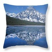 1m3641-mt. Chephren Reflect Throw Pillow