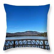 Mt. Chocorua In December  Throw Pillow