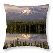 Mt Drum Over Willow Lake Wrangell-st Throw Pillow