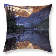 Mt Edith Cavell Reflection Throw Pillow