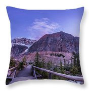 Mt. Edith Cavell Trail At Twilight Throw Pillow