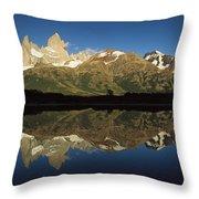 Mt Fitzroy At Dawn Patagonia Throw Pillow