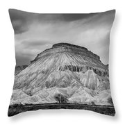 Mt. Garfield - Black And White Throw Pillow