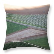 On Top Of  Mt. Megiddo Israel 2014 1 Throw Pillow