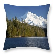 Mt Hood And Lost Lake Throw Pillow