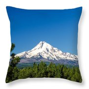 Mt. Hood And Pine Trees Throw Pillow
