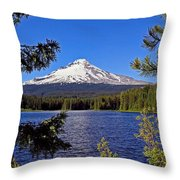 Trillium Lake II Throw Pillow