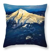 Mt. Hood From Above Throw Pillow