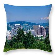 Mt Hood Portland Oregon Usa Throw Pillow