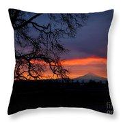 Mt Hood Sunrise Throw Pillow