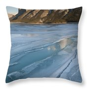Mt. Inglismaldie And Ice Formations Throw Pillow